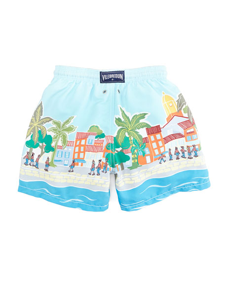 Special Edition Where's Waldo? Boys' Jam Swim Trunks, Sizes 8-14