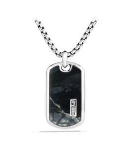 David Yurman Exotic Stone Tag with Picasso Jasper on Chain