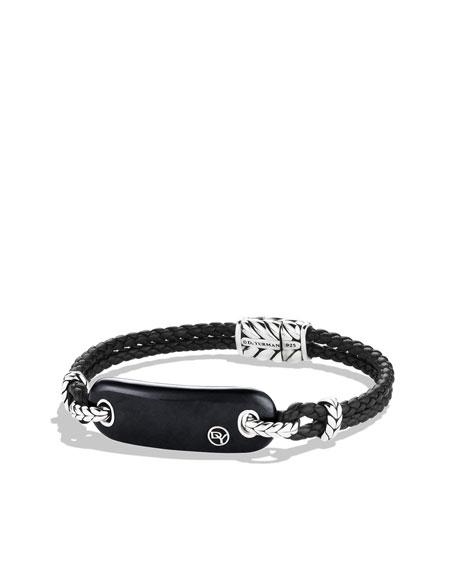 Exotic Stone Tablet Bracelet with Black Onyx