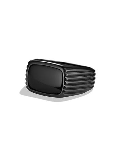 David Yurman Royal Cord Ring with Black Onyx