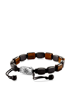 David Yurman Spiritual Beads Five-Station Tile Bracelet with Tiger's Eye