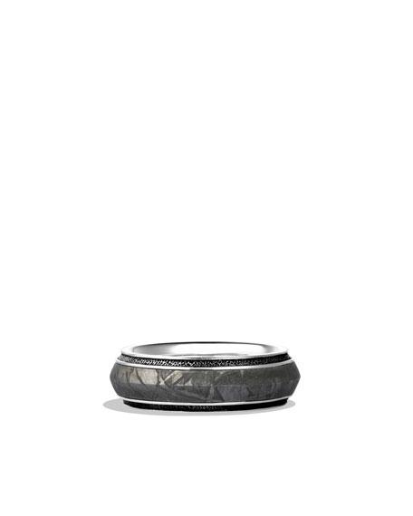 David Yurman Knife-Edge Band Ring with Meteorite