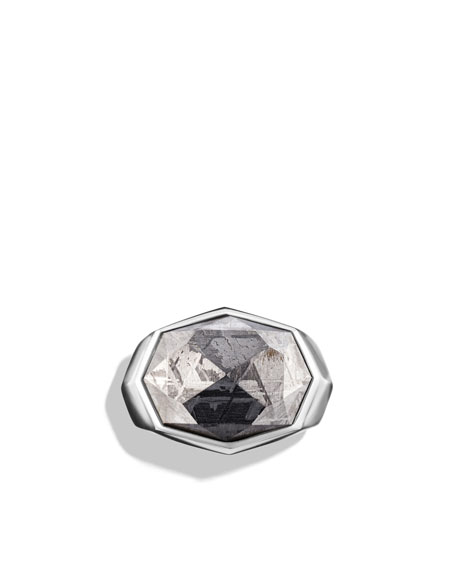 Signet Ring with Meteorite