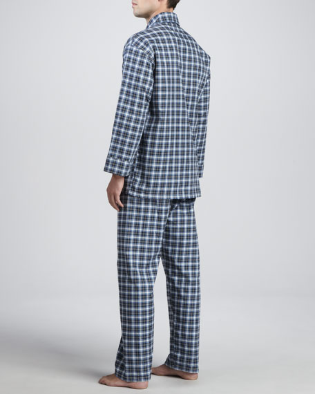 Men's Long-Sleeve Pajama Set, Blue