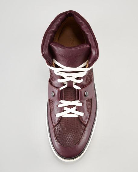 Barlowe Men's Viper-Print High-Top Sneaker