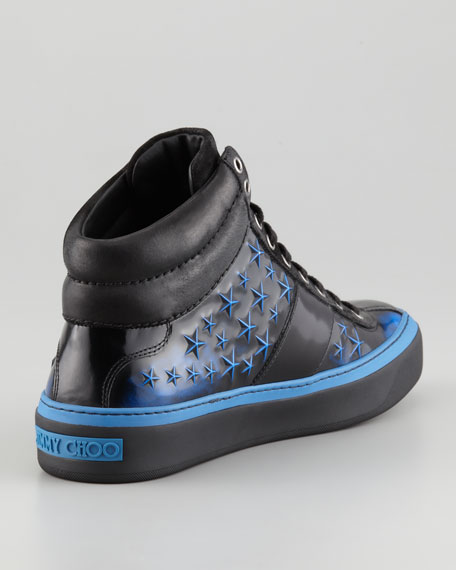 Belgravia Men's 3D Star High-Top Sneaker