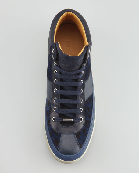 Belgravia Leopard-Print High-Top Sneaker
