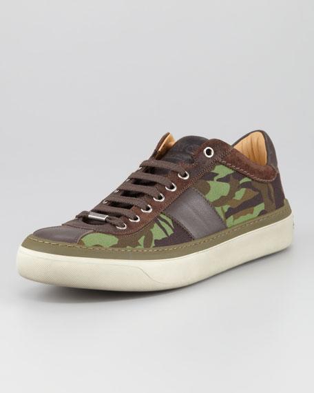 Portman Men's Camo-Print Low-Top Sneaker