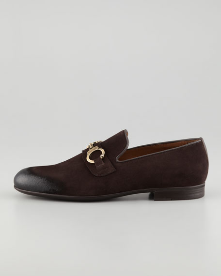 Saddler Suede Handcuff Loafer