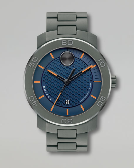 XL Bold Titanium Watch, Bold Blue