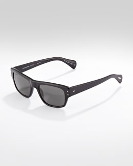 Oliver Peoples Evason Polarized Sunglasses, Black