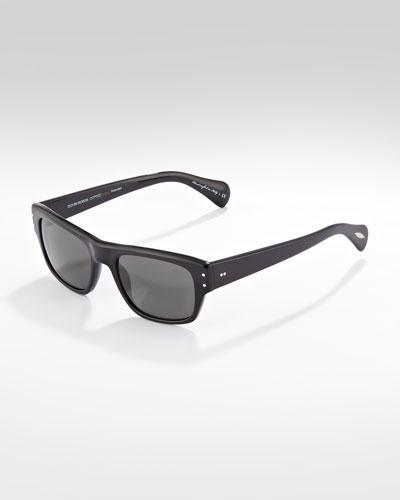 Oliver Peoples Evason Polarized Sunglasses, Black