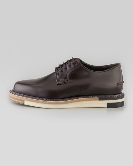 Hunting Chunky-Sole Runway Derby Shoe