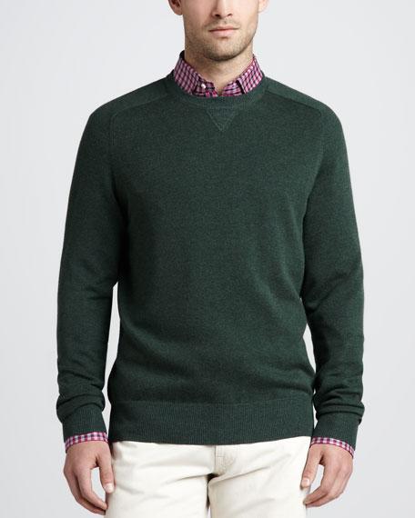 Loop-Back Crewneck Sweater