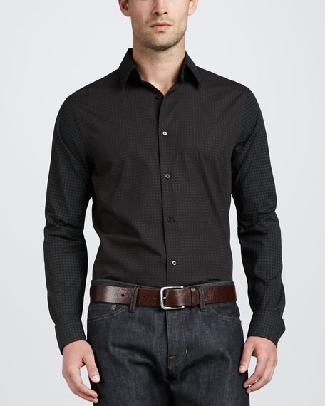 Geometric-Print Sport Shirt