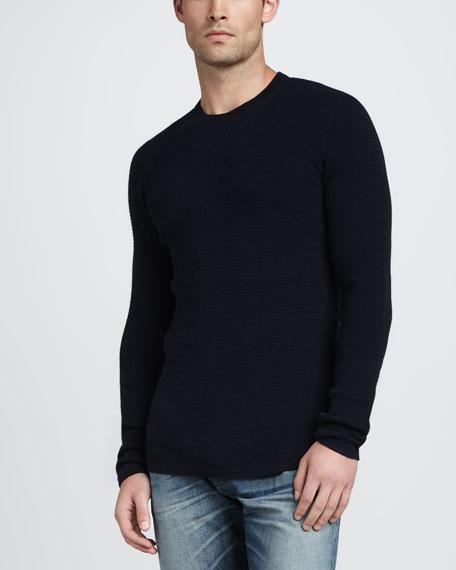 Thermal Crewneck Sweater, Coastal