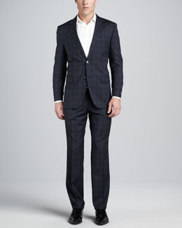 Boss Hugo Boss James/Sharp Plaid Suit, Blue