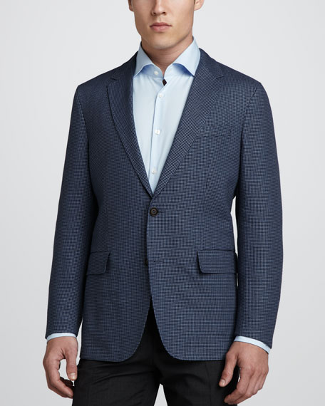 Miles Houndstooth Sport Coat, Navy