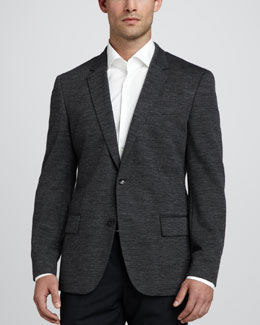 Boss Hugo Boss Hadley Two-Button Blazer, Charcoal