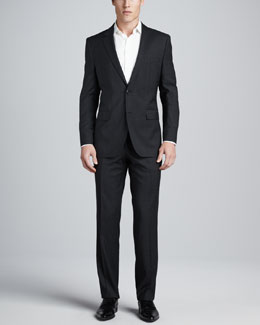 Boss Hugo Boss James/Sharp Check Suit, Charcoal