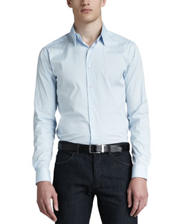 Theory Sylvain Sport Shirt, Light Blue