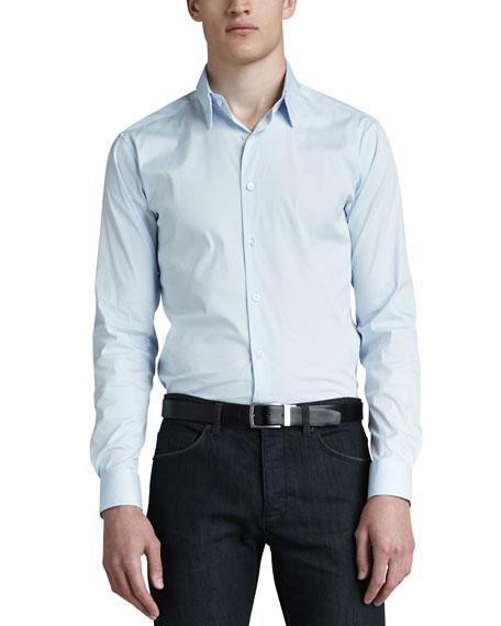 Sylvain Sport Shirt, Light Blue