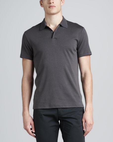 Short-Sleeve Jersey Polo, Gray