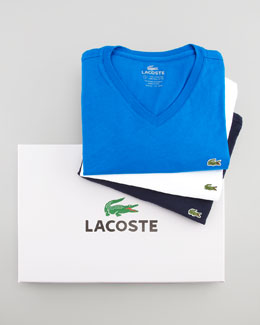 Lacoste Long-Sleeve V-Neck Tee Set, Multi