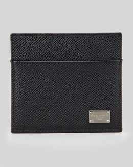 Dolce & Gabbana Logo Plaque Credit Card Holder
