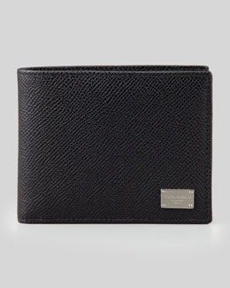Dolce & Gabbana Bi-Fold Wallet with ID Holder, Black