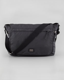 Dolce & Gabbana Hank Men's Nylon Flap Messenger Bag