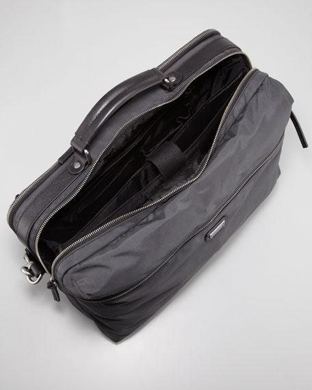 Hank Men's Convertible Nylon Backpack/Messenger, Gray