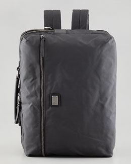 Dolce & Gabbana Hank Men's Convertible Nylon Backpack/Messenger, Gray