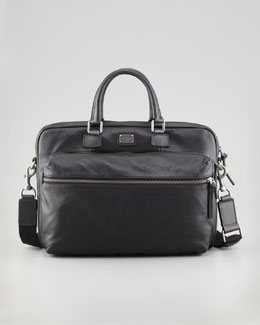 Dolce & Gabbana Hank Leather Laptop Briefcase, Black