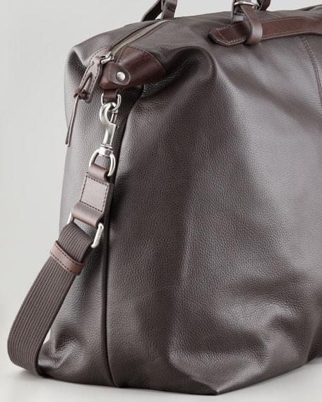 Zip-Top Soft Calfskin Briefcase, Brown