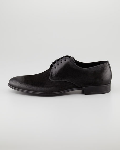 Brushed Suede Derby Shoe