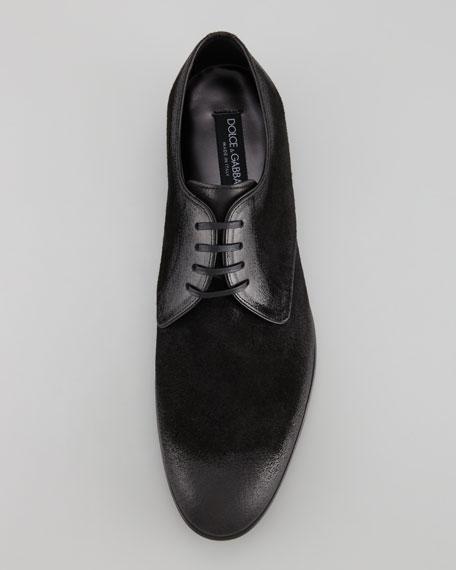 Brushed Suede Derby Shoe