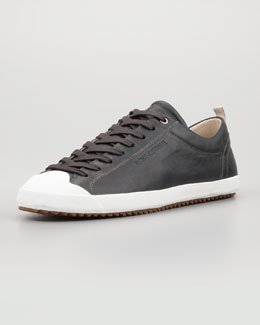 Dolce & Gabbana Leather Low Lace-Up Sneaker