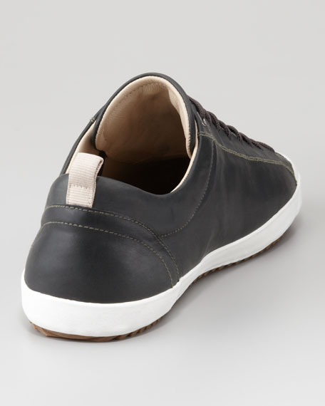 Leather Low Lace-Up Sneaker