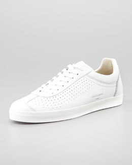 Dolce & Gabbana Perforated Leather Lace-Up Sneaker