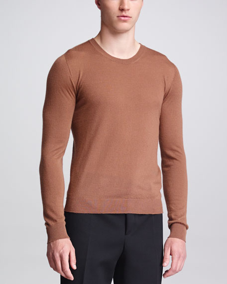 Cashmere Knit Sweater, Camel