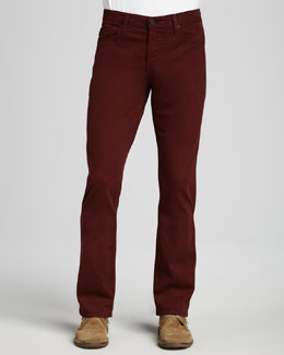 AG Adriano Goldschmied Protege Sueded Deep Wine Jeans