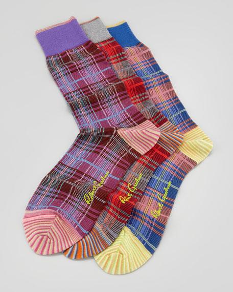 Williams Plaid-Print Socks, 3-Pack