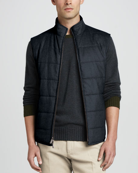 Reversible Full-Zip Vest, Navy