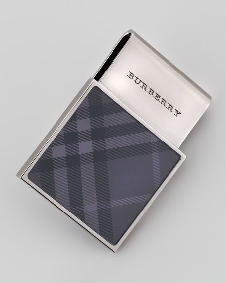 Check Enamel Money Clip, Gunmetal