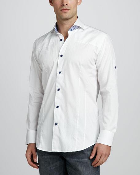 Kyle Jacquard Sport Shirt, White