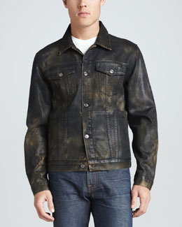 7 For All Mankind Camo Jean Jacket