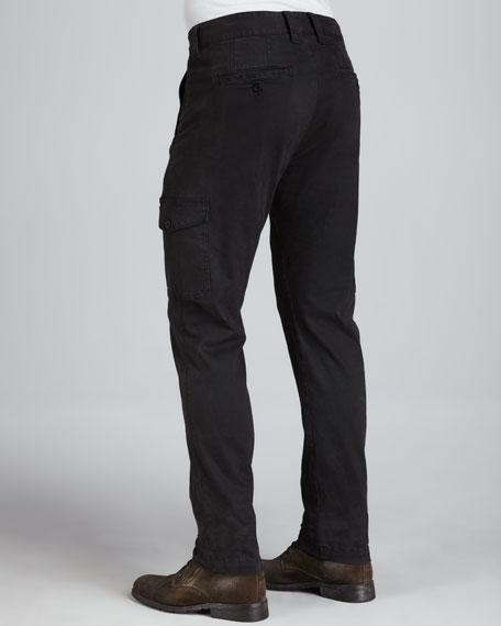 Gunmetal Twill Cargo Pants