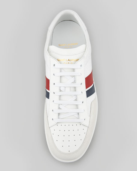 Perforated Two-Stripe Sneaker