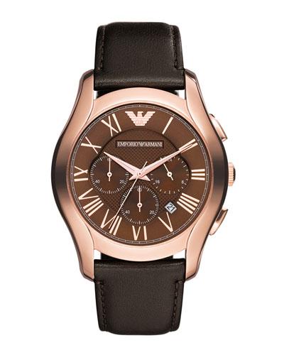 Emporio Armani Classic Chronograph Watch, Rose Gold